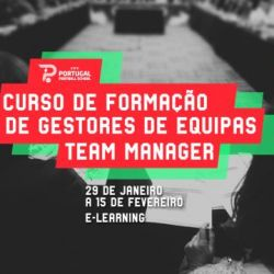 Portugal Football School promove curso para Team Manager